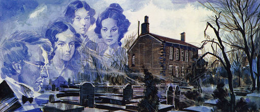 The Bronte family grew up on the Yorkshire moors